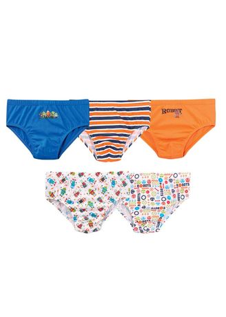 Multi color Innerwear . Norris Boy's Briefs (Set of 5) -
