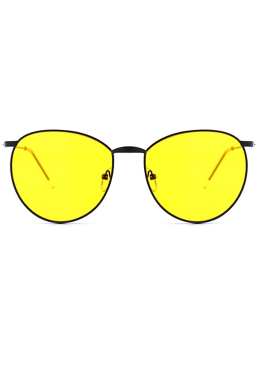 Yellow color Sunglasses . New Metal Round Frame Yellow Sunglasses -
