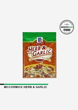 No Color color Powdered Spices, Seasonings & Masalas . McCormick Perfect Pasta Mix Herb & Garlic, 30g -