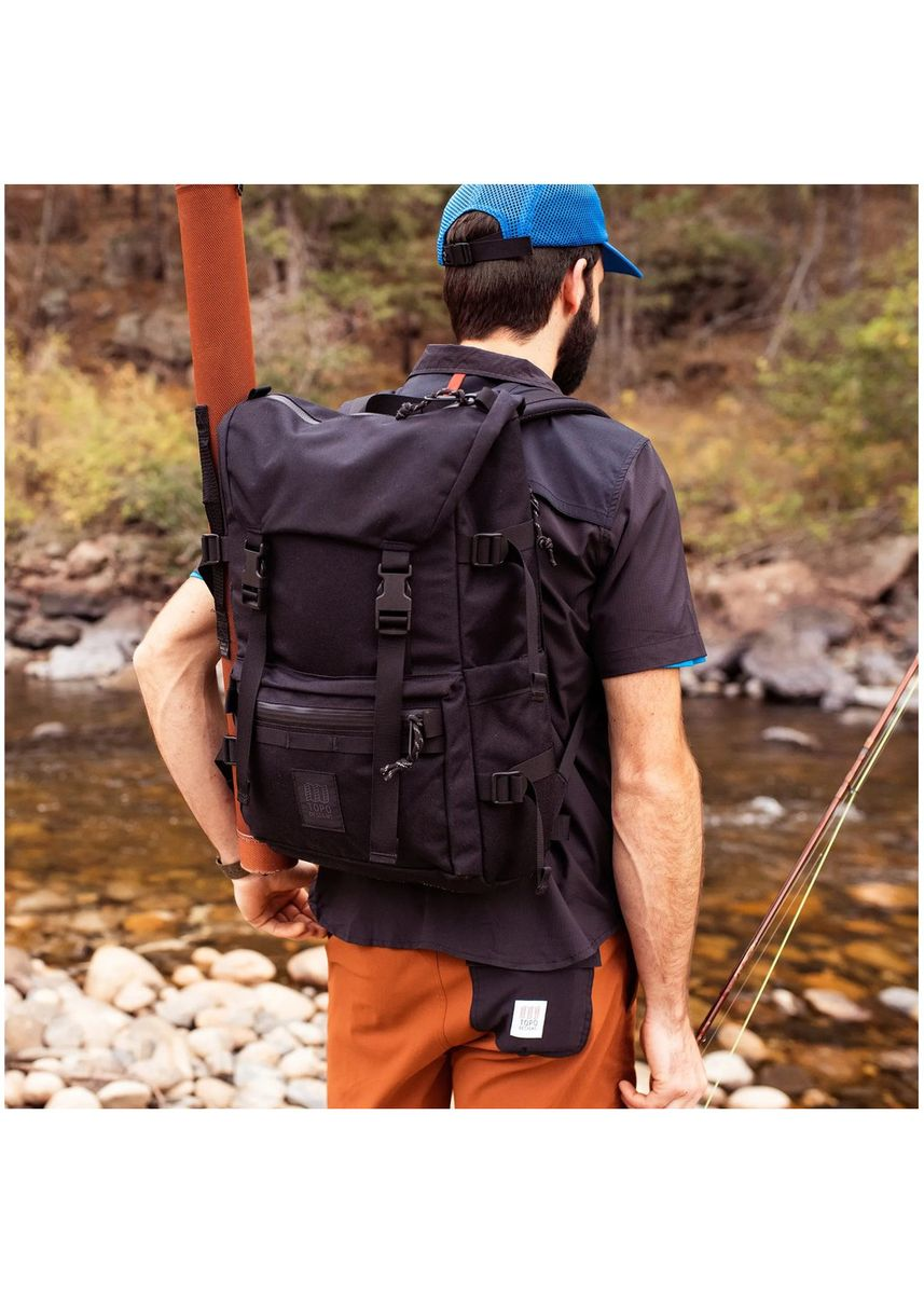 Black color Backpacks . Topo Designs Rover Pack - Tech -
