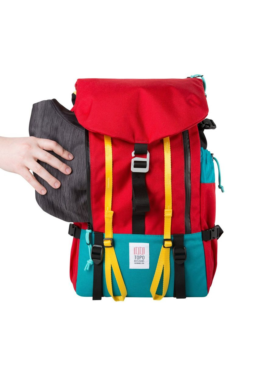 Red color Backpacks . Topo Designs Mountain Pack -