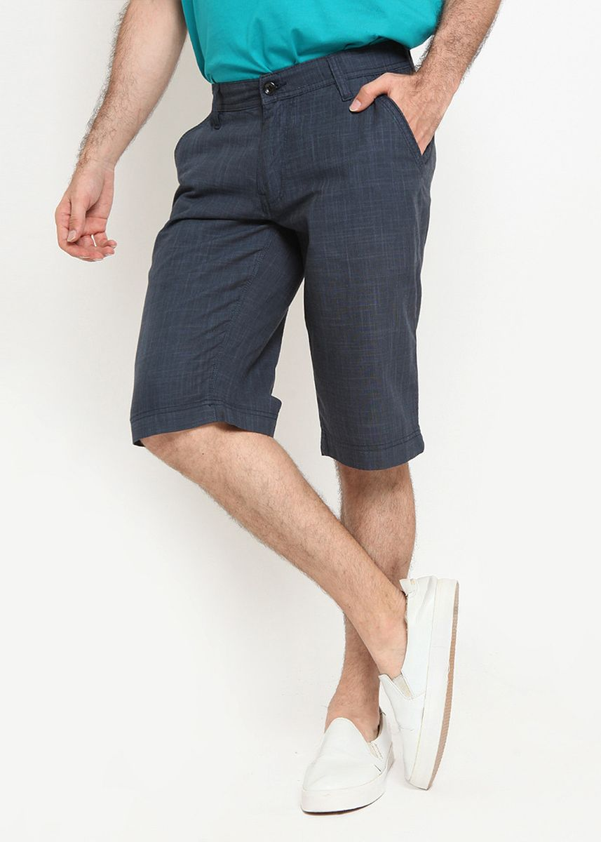 Blue color Shorts & 3/4ths . RBJ Celana Chinos Slim Fit Pria -