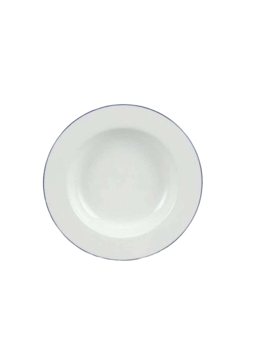 White color Kitchen . Blue Line - Deep Soup Plate (23cm) -