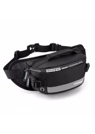 Black color Messenger Bags . Pushop-Waistbag Pria  Staye pro -