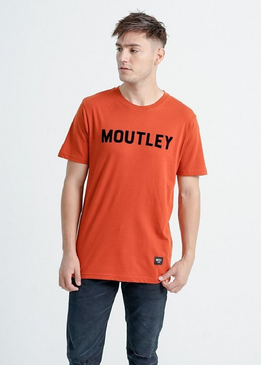 Oranye color Kaus Oblong & Polo . Moutley Men Tshirt 200920 -