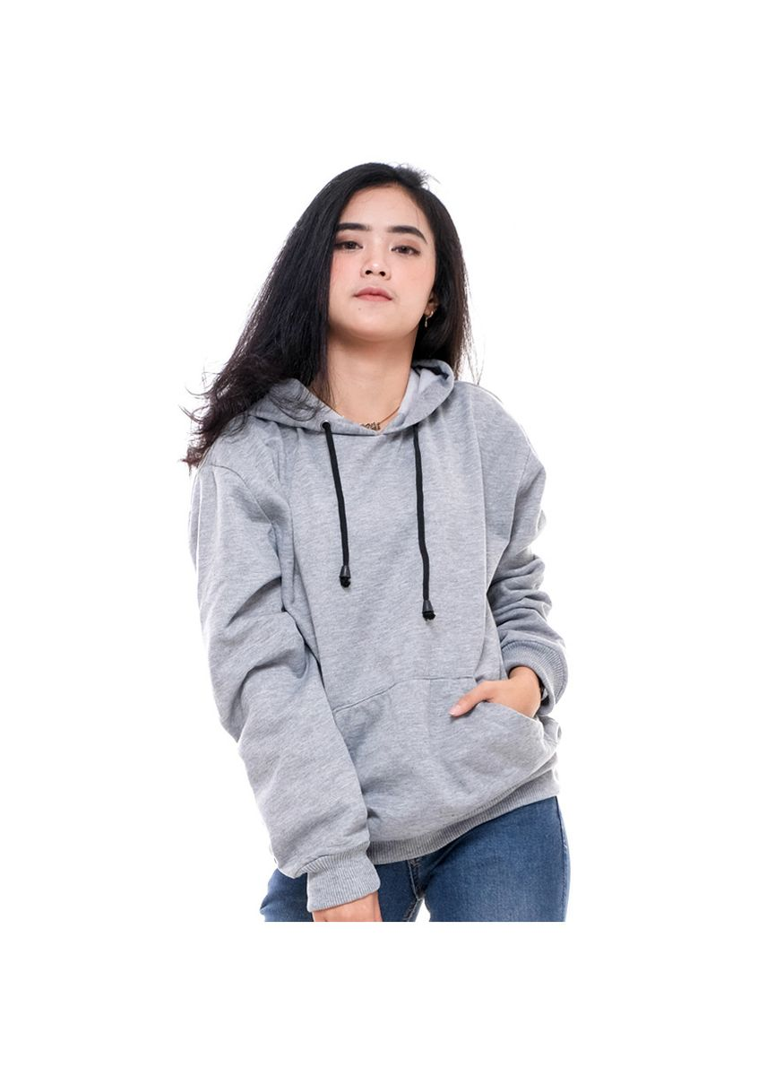 Light Grey color Outerwear . Sweater Hoodie Original Unisex A58 Abu Muda New -