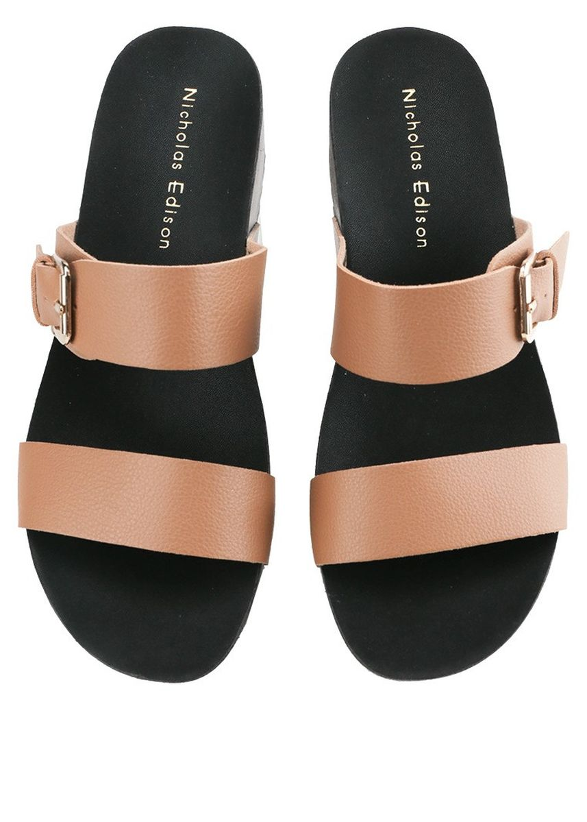 Brown color Sandals and Slippers . Nicholas Edison Wedge Mira Camel -