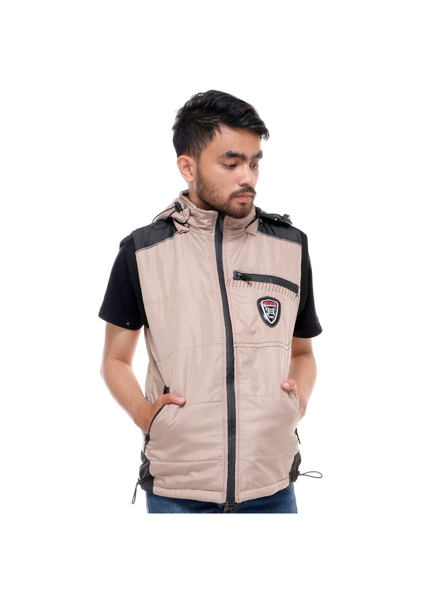 Beige color Outerwear . Jaket X Urband Rompi/Vest Unisex A37 Cream New -
