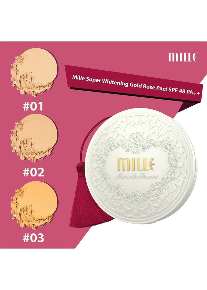 No Color color Face . SUPER WHITENING GOLD ROSE PACT REFILL SPF48 PA++ 11G. No.1 Light -