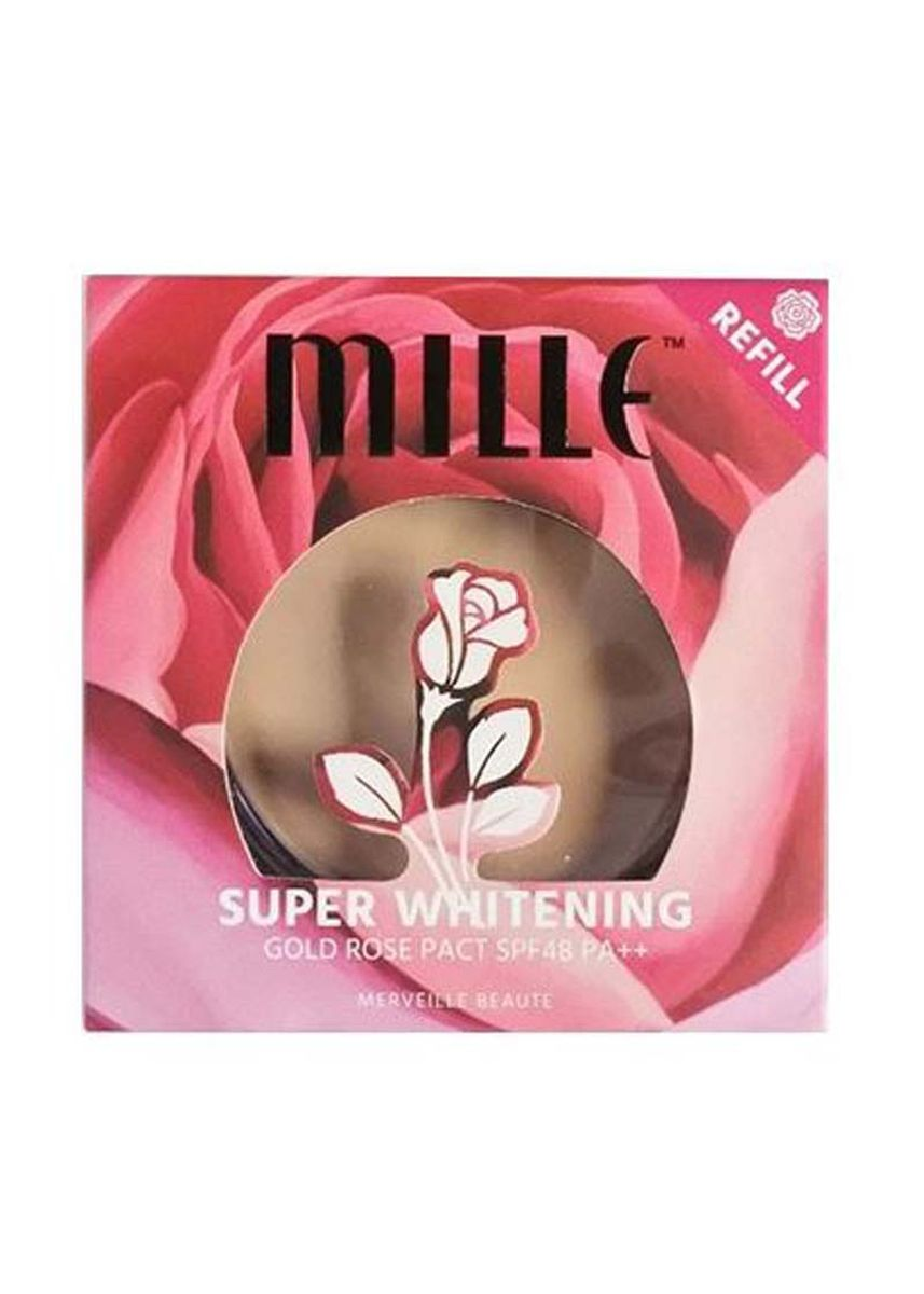 No Color color Face . SUPER WHITENING GOLD ROSE PACT REFILL SPF48 PA++ 11G. No.2 Natural  -