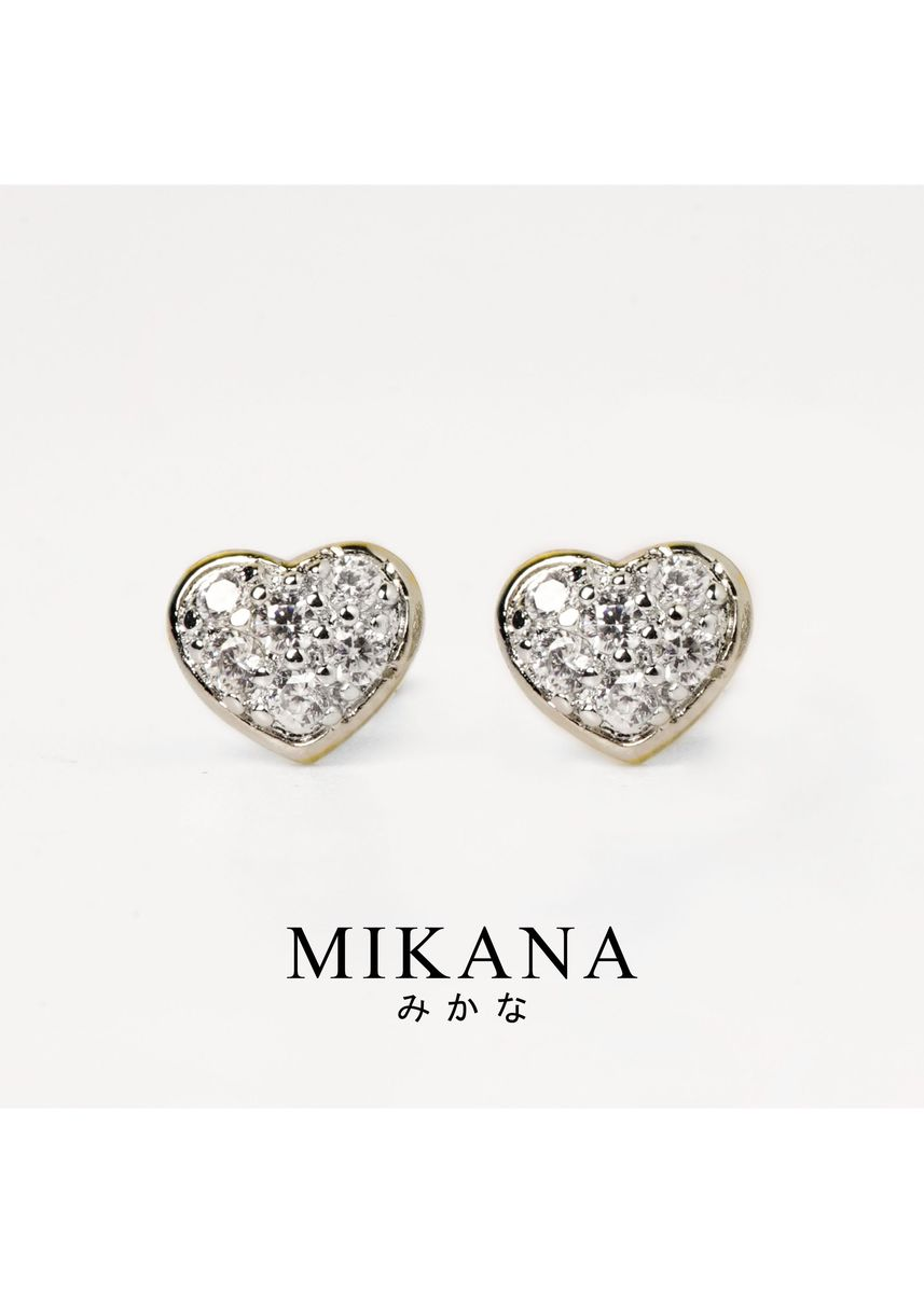 Gold color  . Mikana 18k Gold Plated Mitsuha Stud Earrings Accessories for Women -