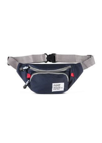 Navy color Messenger Bags . Waistbag Mini Tas Casual Pria Pushop Balencia Polos -
