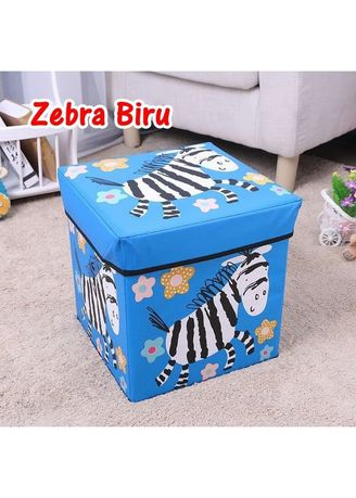 Blue color Storage . RADYSA Animal Storage Blue / Box Penyimpanan Mainan Serbaguna -