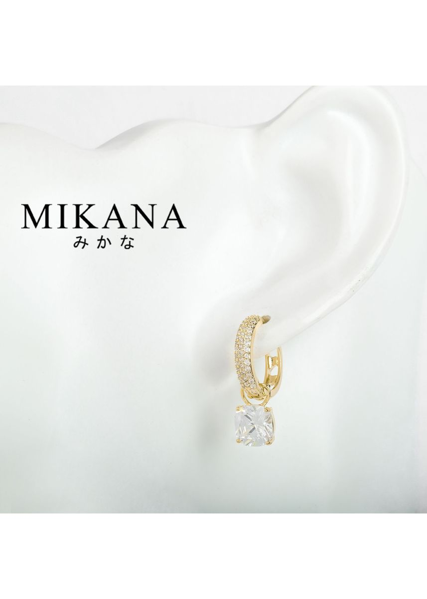 Gold color  . Mikana 18k Gold Plated Fuin Drop Earrings Accessories for Women -