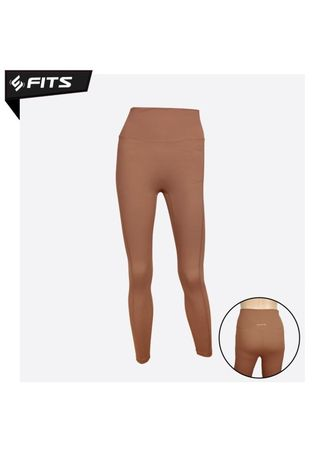 Tan color Pakaian Olahraga . SFIDN FITS Simplicity Legging High Waist Sport Gym Yoga Pilates #20904 - Tan -