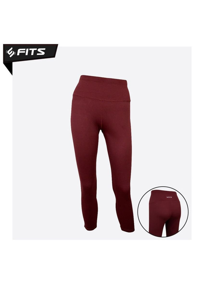 Merah color Pakaian Olahraga . SFIDN FITS Olatthe Legging High Waist Sports Yoga Pilates Pants #B2805 - Merah Bata, -
