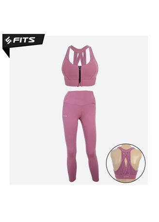 Ungu color Pakaian Olahraga . SFIDN FITS Aeriel Sport Bra + Legging 1 Set Gym / Yoga / Pilates - Ungu -