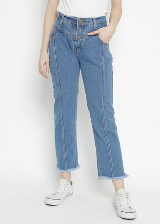 Blue color Jeans . Nuber Exp.Jasmine Boyfriend Jeans Blue Rumbay -