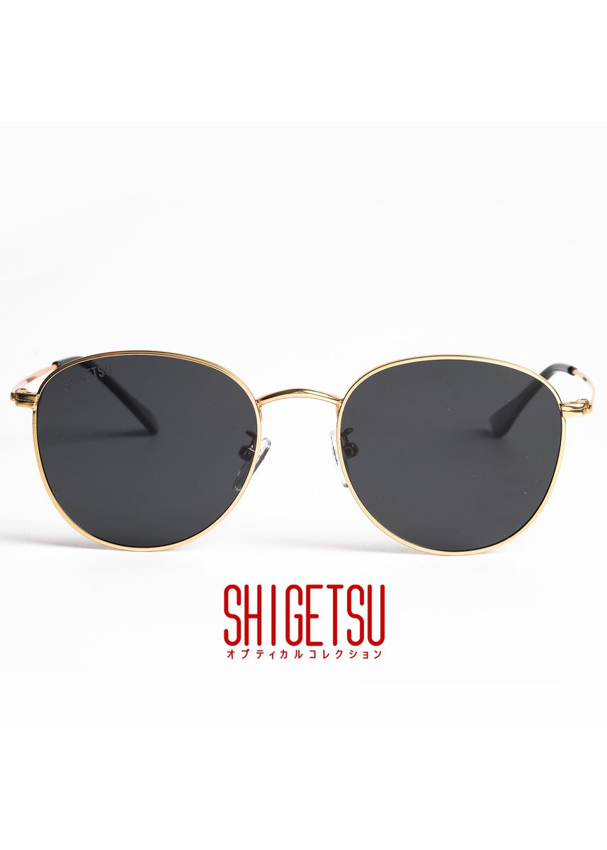 Gold color Sunglasses . Shigetsu ONO Classic Polarized Anti-Glare Sunglasses -
