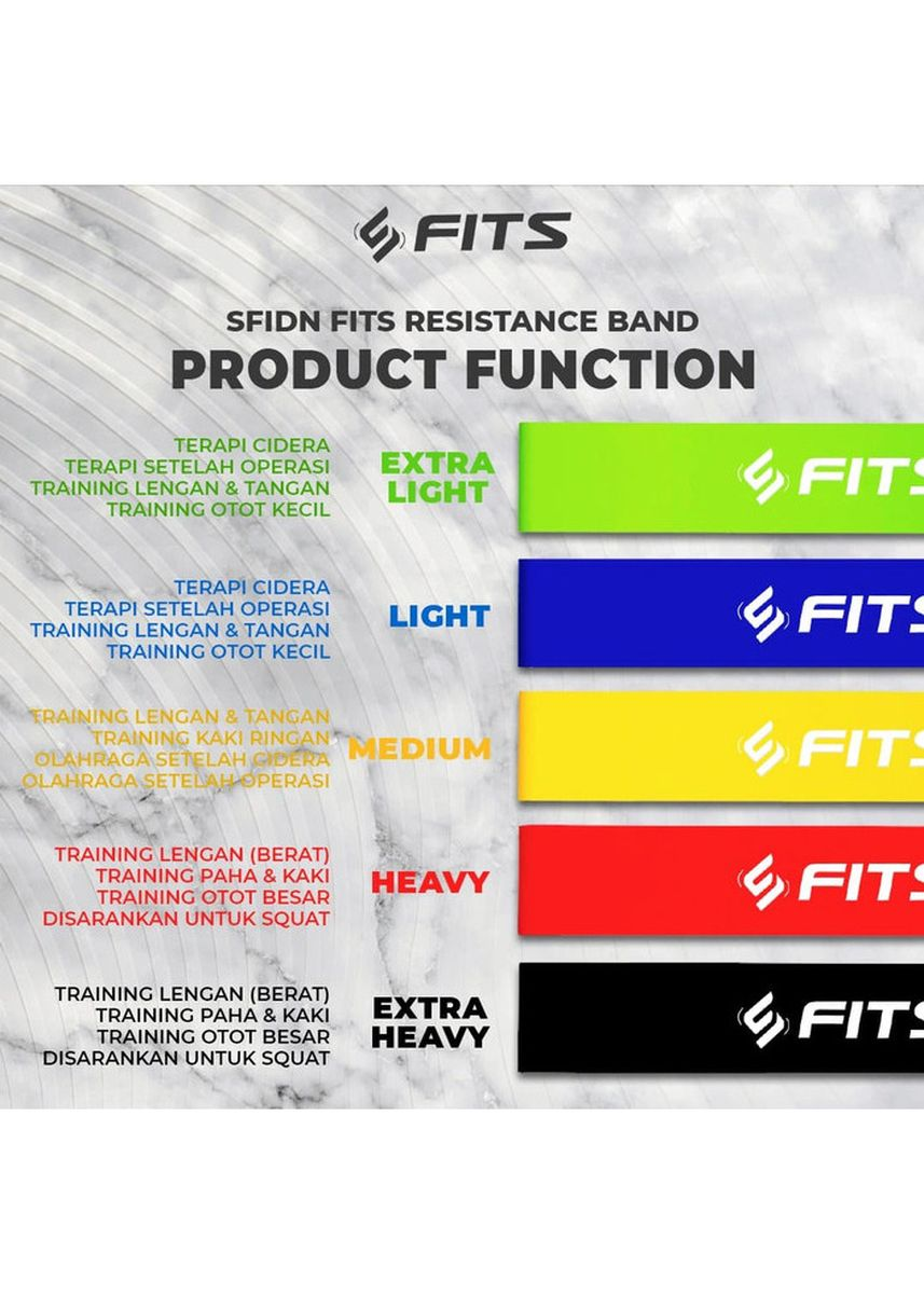 No Color color Accessories . SFIDN FITS Resistance Band Yoga / Olahraga / Senam / Aerobic - Hitam -