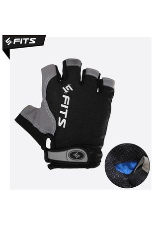 No Color color Accessories . FITS Gloves Flux Sarung tangan Tanpa Jari Gym Fitnes Berkendara - Hitam, L -