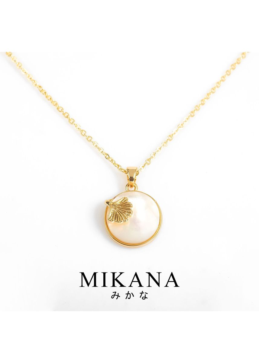 Gold color  . Mikana 18k Gold Plated Hanaoparu Pendant Necklace Accessories for Women -