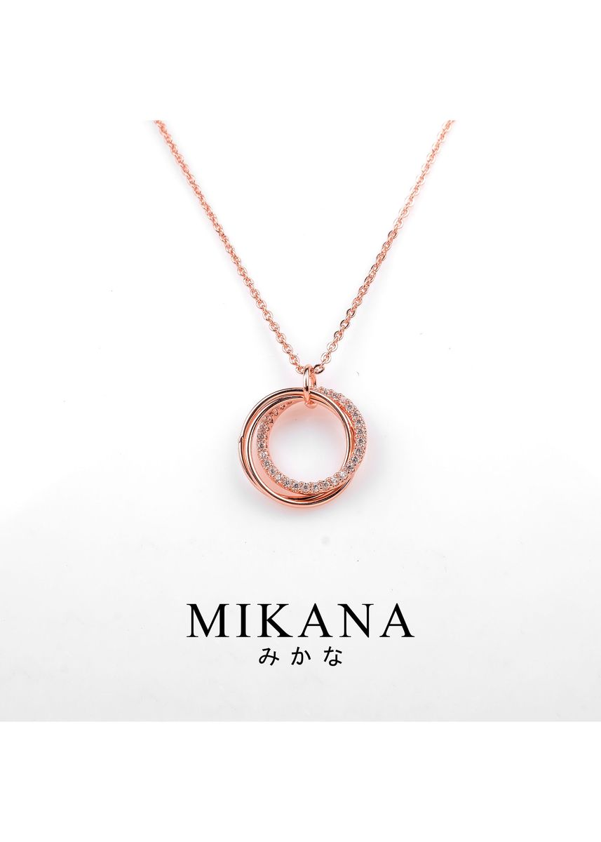 Gold color  . Mikana 18k Rose Gold Plated Shizue Pendant Necklace Accessories for Women -