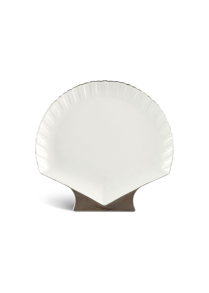 White color Kitchen . Fish & Clam - Shell-Shaped Plate (28cm) -