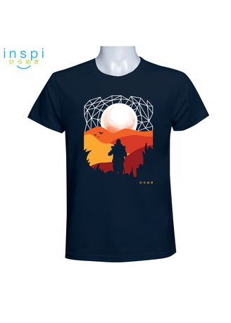 Navy color T-Shirts and Polos . INSPI Tees Trekking (Navy Blue)  -