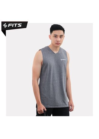 Light Grey color Sports Wear . SFIDN FITS Threadcomfort Lightweight Singlet Sleeveless Gym Training -