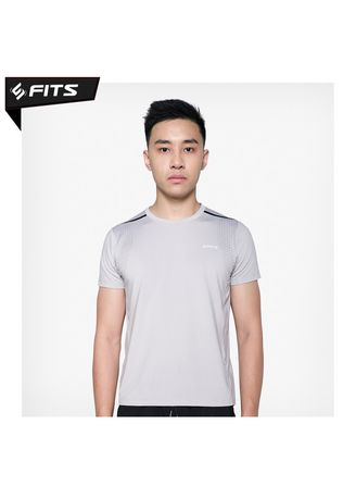 Light Grey color Sports Wear . SFIDN FITS Threadcool Triangular Matrix Shirt Kaos Baju Olahraga #1821 - Grey -