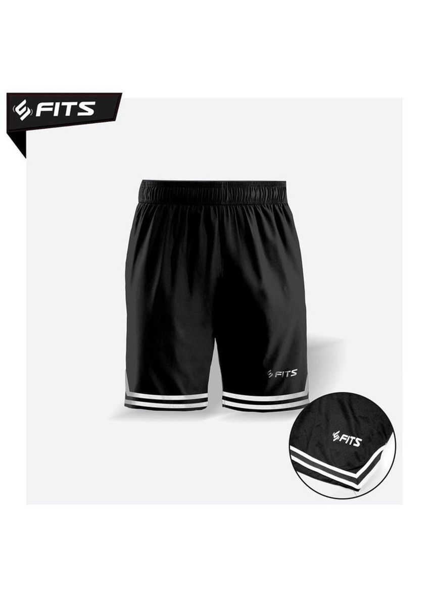 Black color Sports Wear . SFIDN FITS Threadcool Zebra Sports Shorts Celana Olahraga Lari Gym - Hitam -