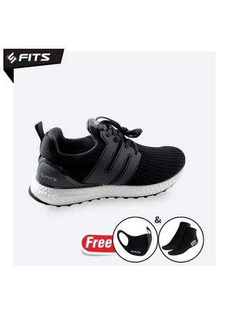 Black color Sports Shoes . SFIDN FITS Cloudwalker Series Sepatu Pria Casual Sneaker Running Shoes - Hitam -