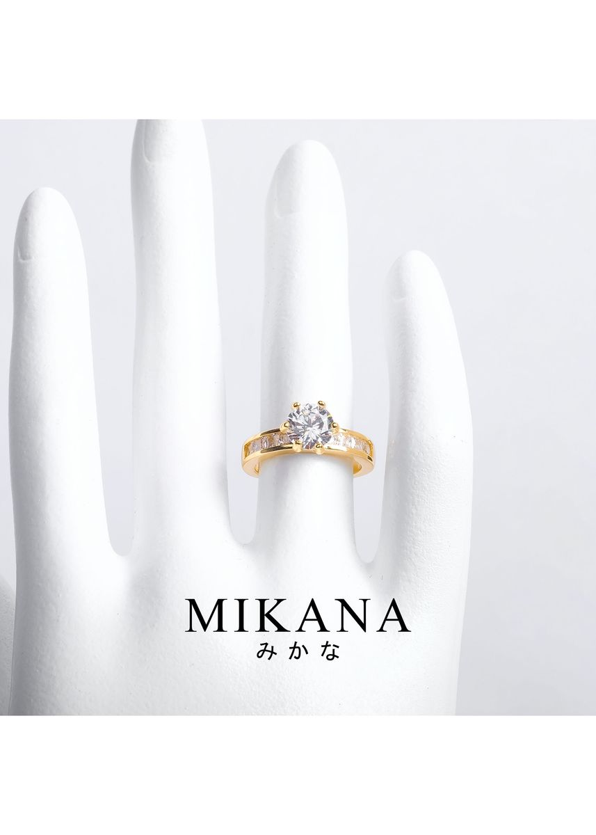 Gold color  . Mikana 18k Gold Plated Terumi Ring Accessories For Women -