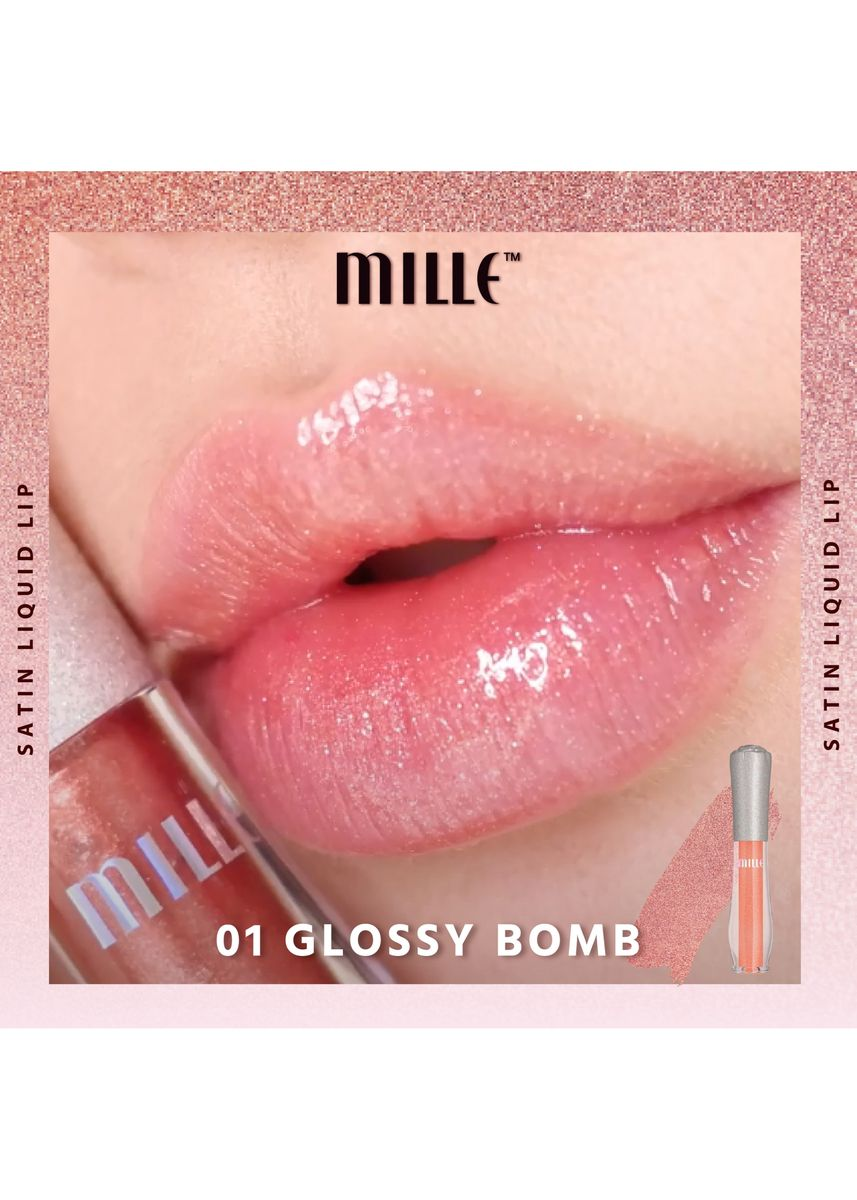 ไม่มีสี color ริมฝีปาก . CRYSTAL REFLECTION SATIN GLAZE LIP 1.7 ML. No.01 Glossy Bomb -