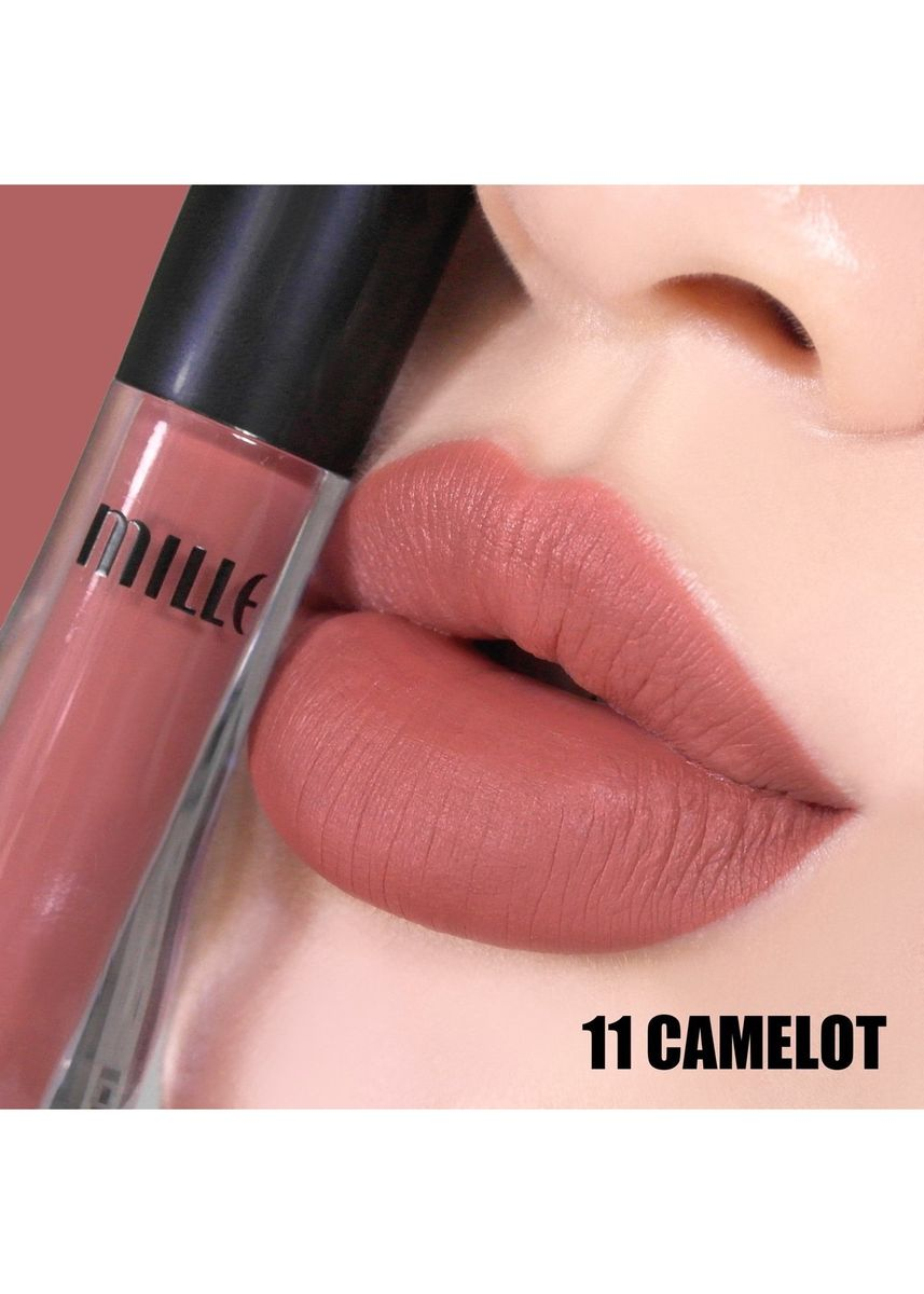 No Color color Lips . MILLE SATIN MATTE LIQUID LIP 1.7G. No.11 Camolot -