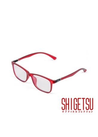 Maroon color Frames . Shigetsu NARASHINO Square Computer Eyeglasses for Women with Anti-Radiation / Bluelight in TR90 Frame -