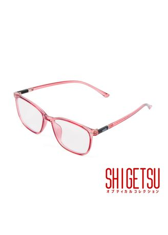 Red color Frames . Shigetsu TSUGARU Square Computer Eyeglasses for Women with Anti-Radiation / Bluelight in TR90 Frame -