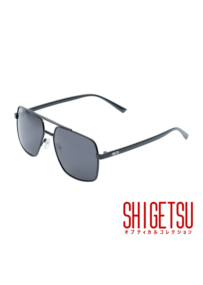 Black color Sunglasses . Shigetsu AIKAWA Aviator sunglasses for Men with Polarized lens UV400 Protection -