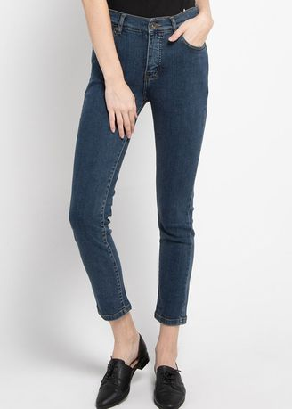 Navy color Trousers . Expand Nediva Straight Denim 049.96119.49 -