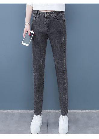 Grey color Jeans . The New Big Yards Fat Mm Feet Haroun Pants -