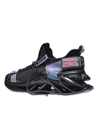 Black color Sports Shoes . New Fashion Men Sneakers Outdoor Breathable Shock  -