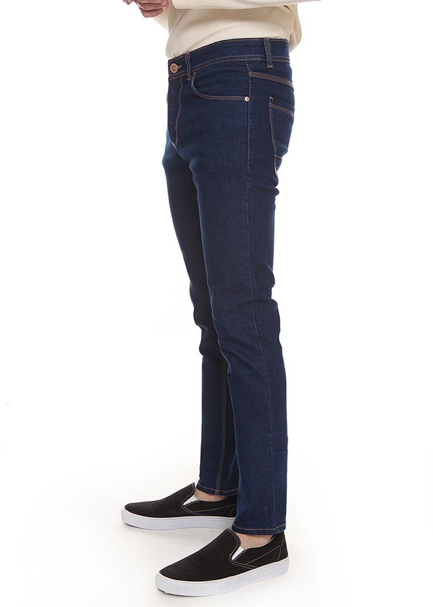 Navy color Jeans . 2nd Red Slim Fit Jeans FLaming Navy JS1914 -