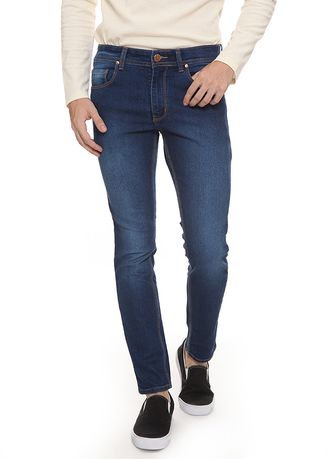 Biru color Celana Jeans . 2nd Red Slim Fit Jeans Fabulous Navy JS1915 -