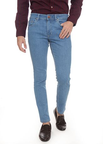 Light Blue color Jeans . 2nd Red Slim Fit Jeans FLamingo Light Blue JS1918 -