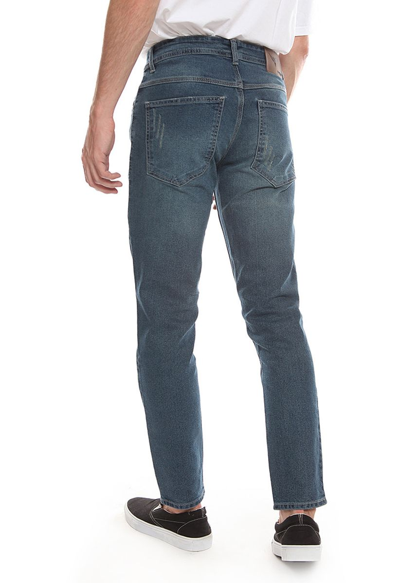 Abu-Abu color Celana Jeans . 2Nd RED Ripped Jeans Slim Fit JS1924 -
