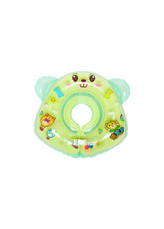 Green color Swimwear . Doctor Dolphin Inflatable Neck Ring / Ban Leher Bayi / Ban Renang Bayi / Pelampung Bayi Renang Tiup -