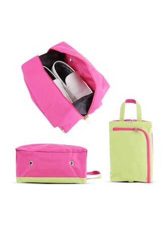 Pink color Shoe Storage . RADYSA Shoe Case Organizer / Tas Sepatu Travel ( SCO ) -