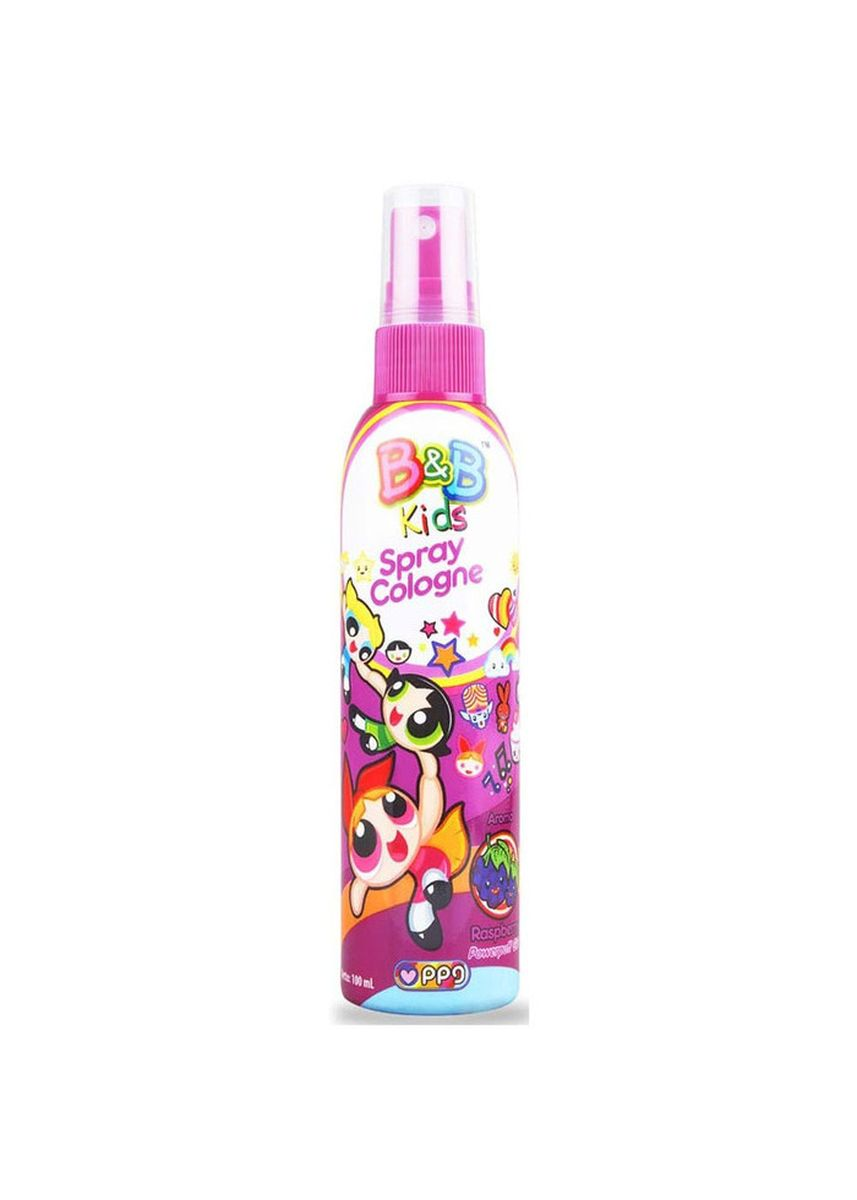 No Color color Body Cream & Oil . B&B Kids Spray Cologne 100ml Botol - Powerpuff Girl Edition - Raspberry -