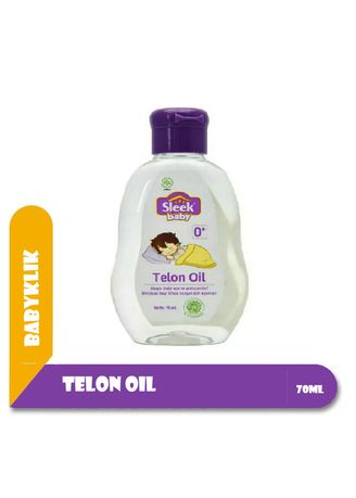 No Color color Body Cream & Oil . Sleek Baby Telon Oil 70ml - Minyak Telon Bayi -